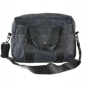 Levi's Denim Messenger Laptop Bag Red Tab Pack Pocket-infinitote.com