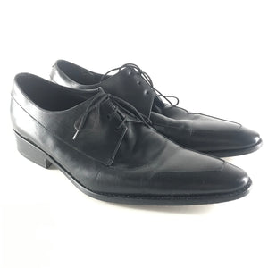 Thierry Mugler Men's Lace Up Oxford Shoes Leather Black EUR41 US8.5-infinitote.com