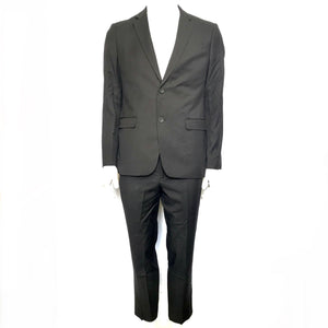 Egara Extreme Slim Fit Suit Jacket + Pants Black Sz 40R-infinitote.com