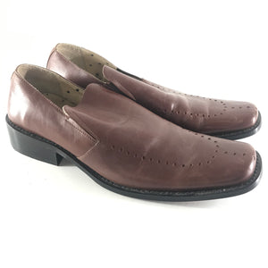 MC & Power Men's Leather Slip On Shoes Brown Sz 43 US10-infinitote.com