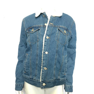 Sunrise Kingdom Light Wash Women's Denim Jacket Faux Fur Lined - Small-infinitote.com