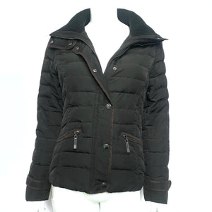 Esprit Women's Quilted Down Jacket Black Sz 6-infinitote.com