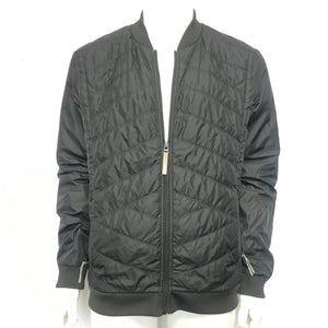 Bench Men's Lightweight Zippered Bomber Jacket Black Sz M-infinitote.com