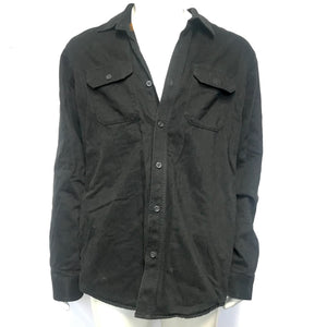 Eddie Bauer Men's Flannel Lined Shirt Jacket Black Sz L-infinitote.com