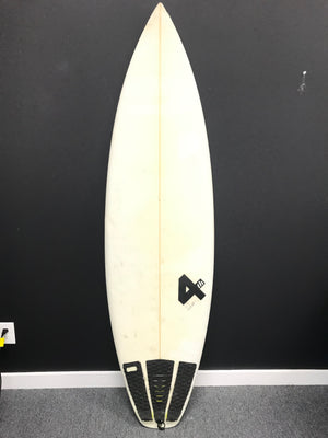 Fourth 4th Surfboards Luke Hart Shapes Surfboard - Beige with Tail Grip-infinitote.com