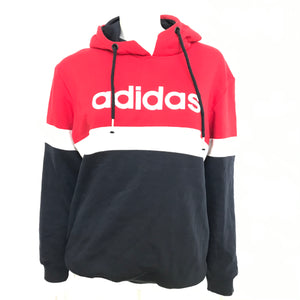 adidas Men's Hooded Shirt Hoodie Red White Blue Sz L-infinitote.com