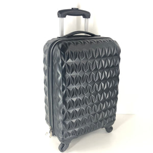 20 Inch Hard Shell Spinner Carry On Luggage Black-infinitote.com
