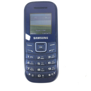 Samsung Keystone 2 GT-E1200M Unlocked Cellular Bar Phone Blue-infinitote.com
