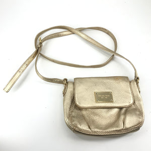 Michael Kors Mini Crossbody Bag Purse Gold with Gold Hardware-infinitote.com