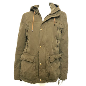 Zara Man Coated Military Jacket in Army Green Sz L-infinitote.com