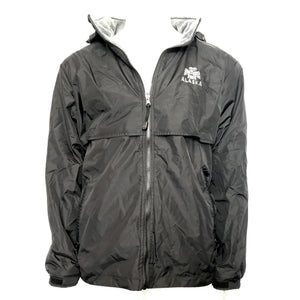 Alaska Men's Reversible Fleece Windbreaker Jacket - Hide-A-Hood - Black Sz L-infinitote.com