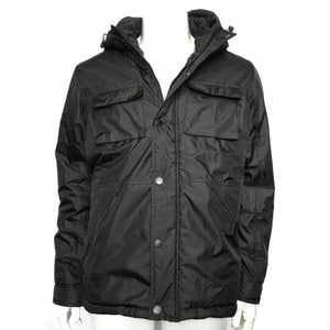 Oppenheimer Men's Black Multi-Pocket Winter Coat Sz Large-infinitote.com