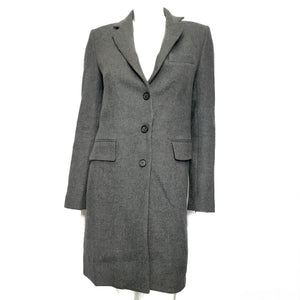 Zara Women's Basic Wool Blend Manteco Coat - Gray Sz XS-infinitote.com