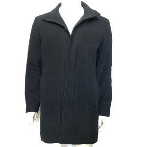 French Connection FCUK Men's Button-Up Overcoat Sz M - Black-infinitote.com