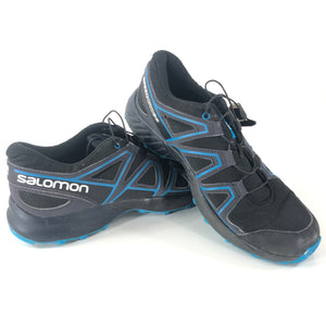 Salomon Kids' Speedcross J Trail Running Shoes Black Blue Sz 6-infinitote.com
