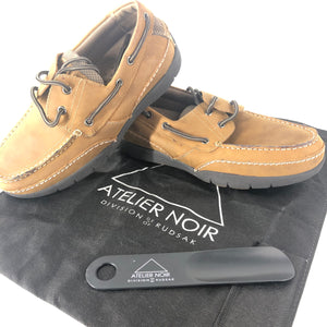 Atelier Noisr by Rudsak Men's Leather Boat Shoes Brown Sz 7-infinitote.com