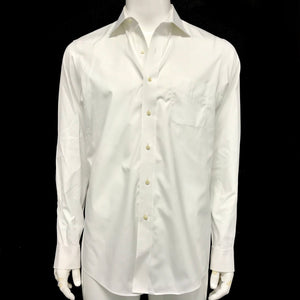 Brooks Brothers Men's White Dress Shirt Long Sleeve Button Up Collar Shirt Sz 16-infinitote.com