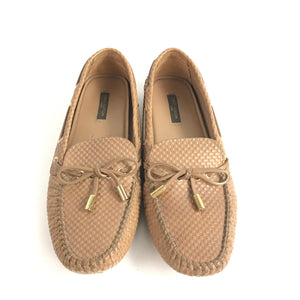 Louis Vuitton Gloria Flat Loafers Petit Damier Brown Sz 39-infinitote.com