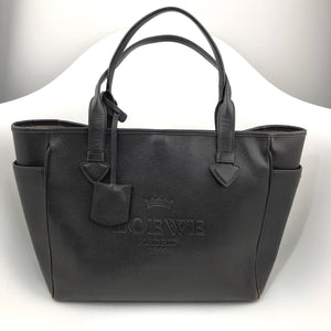 LOEWE Madrid Dark Brown Leather Heritage Tote Shoulder Bag