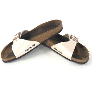 Birkenstock Madrid Single Strap Sandals Pearl White Sz 39 (W8/M6)-infinitote.com