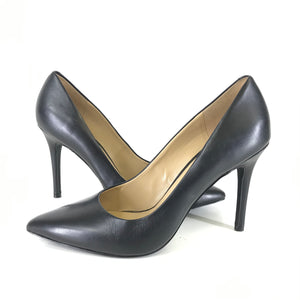 Michael Kors Stiletto Pumps Heels Black Leather Sz 8.5-infinitote.com