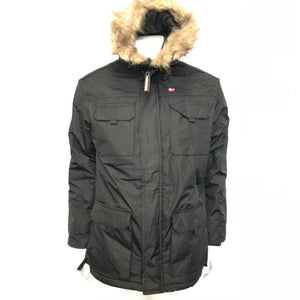Geographical Norway Men's Winter Jacket Parka Insulated Black Sz M-infinitote.com