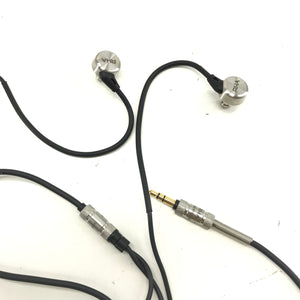 RHA MA750 Noise Isolating In-Ear Headphones Earbuds - Black and Silver-infinitote.com