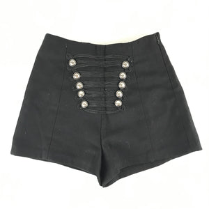 Muses Detailed Mini Shorts Black Sz 1S- 24 Waist-infinitote.com