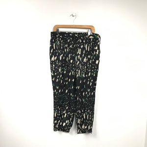 Pure DKNY Women's Silk Pants Spotted Black Sz M-infinitote.com