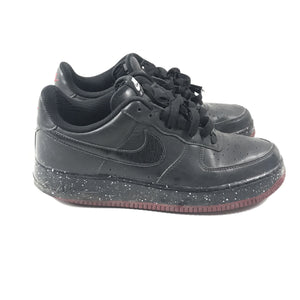 Nike ID Air Force 1 Low Black Black Red Men's Sneakers Sz 9 AQ3774-991-infinitote.com