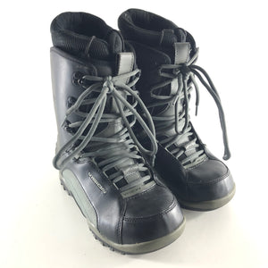 Vision Leather Lace Up Snowboard Boots Black Sz 9-infinitote.com