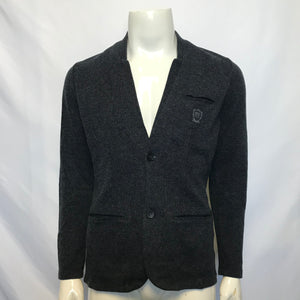 Massimo Dutti Men's Button Up Knit Cardigan - Navy Blue Sz L-infinitote.com