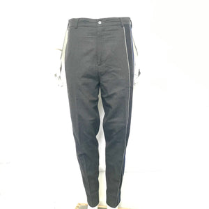 "Maison Martin Margiela Gray Flannel Cotton Pants w/ Side Stripes 35"" Waist-infinitote.com"