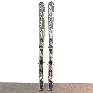 Fischer RX2 SLT 160cm Glassfiber Downhill Skis with FS 11 Bindings Black-infinitote.com