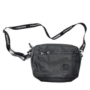 Makavelic Bi-Layer Crossbody Pouch Bag Black-infinitote.com