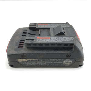 Bosch BAT610G 18V 1.5Ah Rechargeable Slimpack Lithium Ion Battery 27Wh-infinitote.com