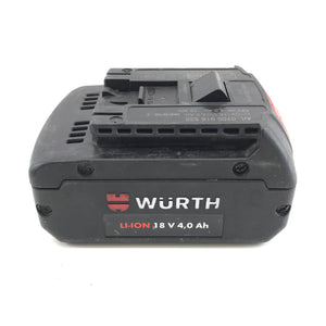 Wurth 18V Lithium-Ion Battery 4.0Ah 72Wh Art. 0700 916 0532-infinitote.com