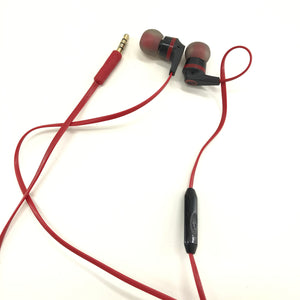 Skullcandy Ink'd In-Ear Earbuds - Black and Red-infinitote.com