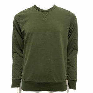 MEY STORY Stretch Cotton Sweatshirt Long Sleeve Shirt Green Sz M-infinitote.com