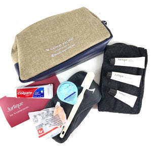 Cathay Pacific First Class Amenity Kit By Seventy Eight Percent Brown Blue-infinitote.com