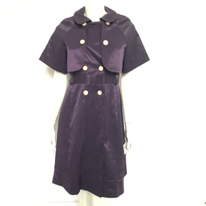 Stella McCartney Grape Dress and Cape Sz 40 & 38-infinitote.com