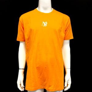 Nelk Boys T-Shirt Short Sleeve Shirt NB Logo Yellow Orange White-infinitote.com