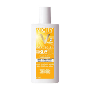 Vichy Ideal Soleil Ultra Fluid Mineral Tinted Sunscreen Lotion SPF60 45ml 1.5oz-infinitote.com