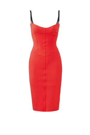 La Petite Robe di Chiara Boni Meghana Dress Red Sz IT40 US M 4/6-infinitote.com