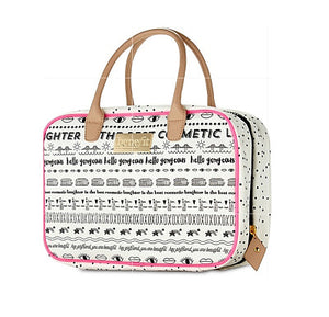 Benefit Cosmetics 'Hello Gorgeous' Toiletry Makeup Weekender Bag Case-infinitote.com