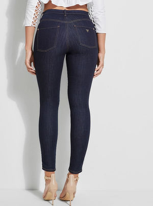 GUESS Soft Luxe Super High Rise Skinny Jeans Dark Wash Sz 29-infinitote.com