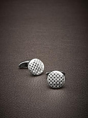 Corneliani Palladium Button Cufflinks with Laser Engraving-infinitote.com