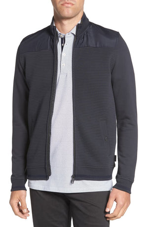 Ted Baker Men's Sardin Quilted Jacket Navy Blue Sz 4 (L)-infinitote.com