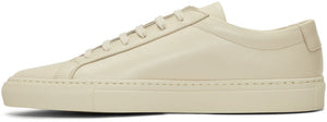 Common Projects Men's Achilles Low Leather Sneakers Beige 12-infinitote.com