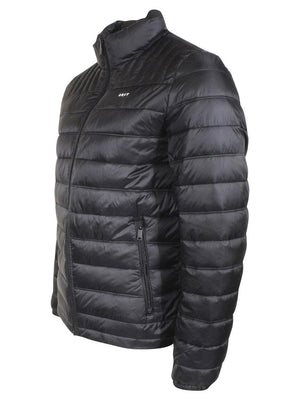 DKNY Men's Water Resistant Ultra Loft Quilted Packable Puffer Jacket Black XL-infinitote.com